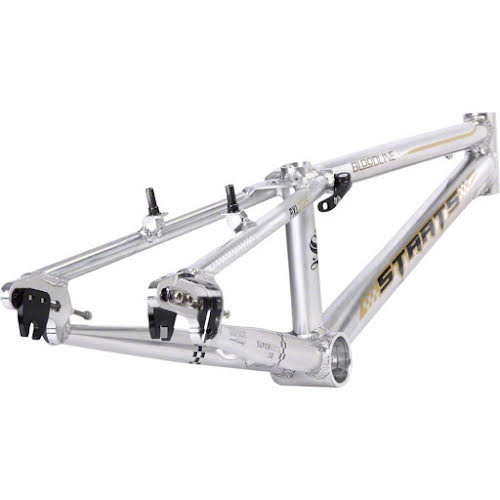 """Staats Bloodline SuperMoto30 Pro XL PF30 Frame 21.25"""" Top Tube Silver Arrow Polished"""