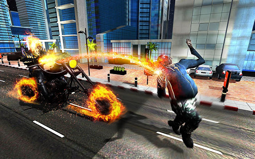 Ghost Bike Hero Blaze Fire Skull Rider Battle game (apk) free download for Android/PC/Windows screenshot