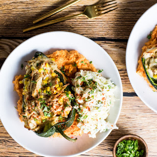 Stuffed Poblano and Sweet Potato Mash Bowls