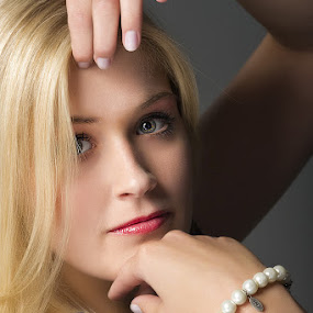 by Mino Taurus - People Portraits of Women ( blonde, girl, woman, beautiful, beauty, hair, portrait, eyes )