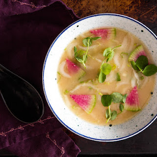 Miso Soup With Mixed Seasonal Vegetables.
