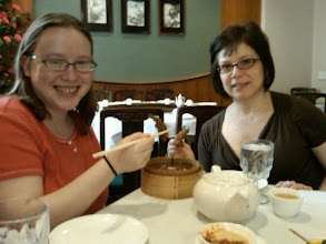Photo: Rachel & Annette w/ Chicken Feet @ dim sum