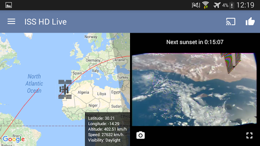ISS HD Live: View Earth Live app (apk) free download for Android/PC/Windows screenshot