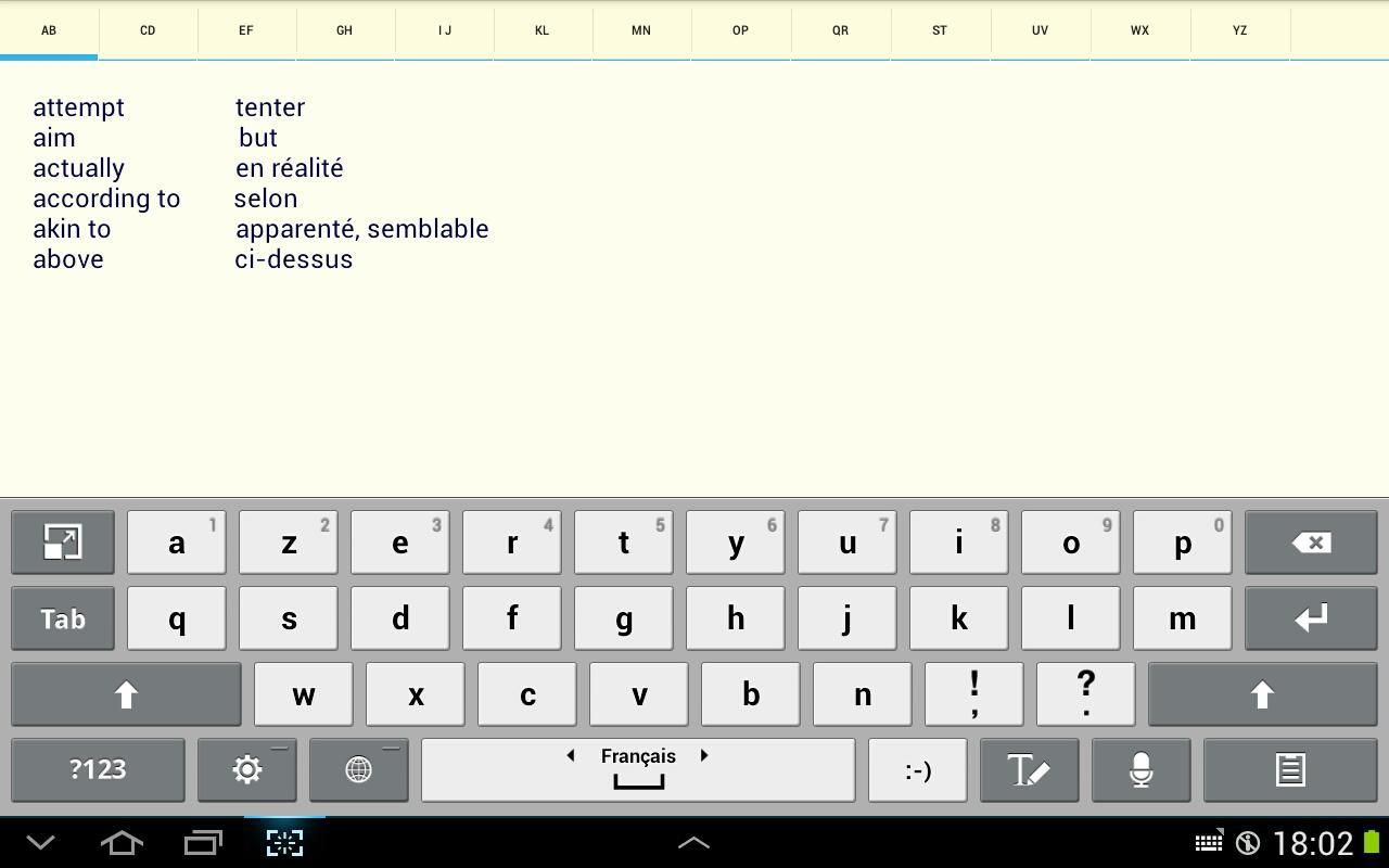 Alphabetical Notepad- screenshot