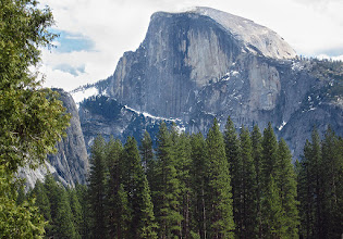 Photo: Finally saw Half Dome when at other end of Cook's Meadow, Day 3, S95 #3793