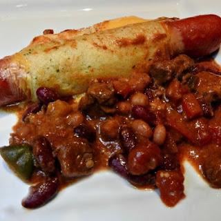 Chili Cheese Hot Dog Croissant Bake Recipe