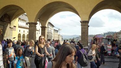 Photo: Na Ponte Vecchio też tłum