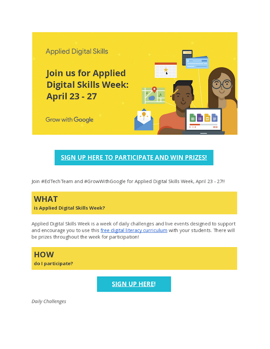 Applied Digital Skills Week at a Glance