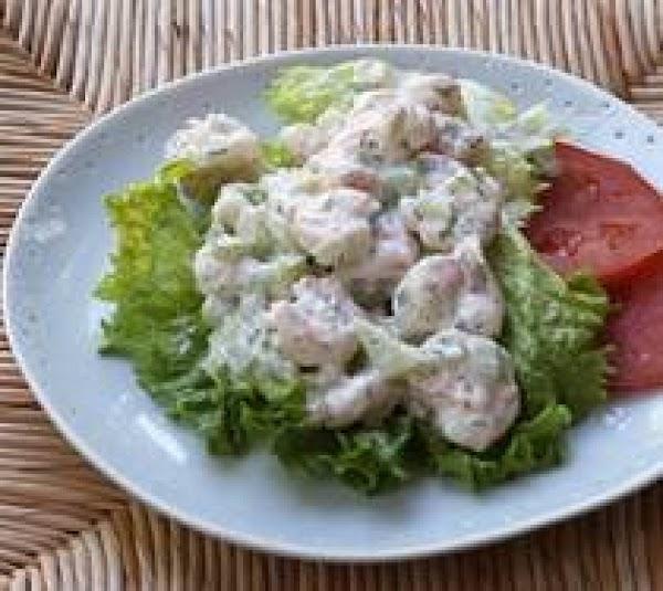 Shrimp Salad With A Lemon Jello Side Dish Recipe