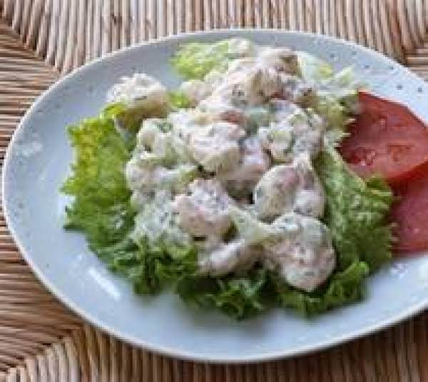 Shrimp Salad With A Lemon Jello Side Dish Recipe