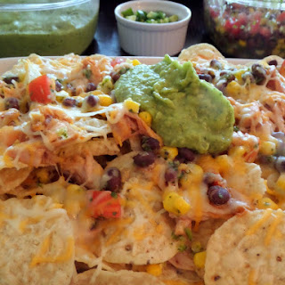 Chicken and Black Bean Salsa Nachos