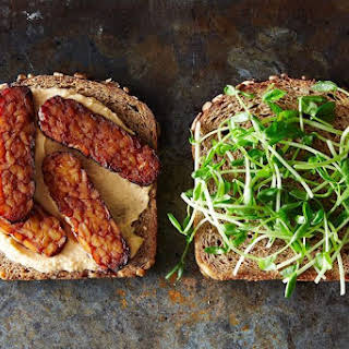 Smoky Tempeh and Hummus Sandwiches.