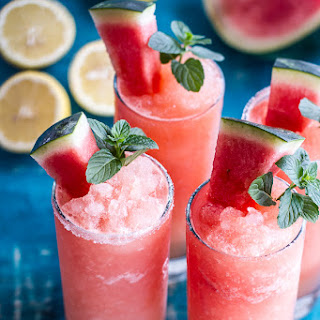 Pink Watermelon Lemonade Slushies. Recipe