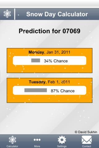 Snow Day Calculator screenshot 2