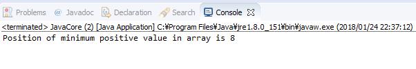 Java - tìm vị trí phần tử dương nhỏ nhất trong mảng số nguyên