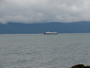 Photo: The Alaska Ferry heading south down Lynn Canal.