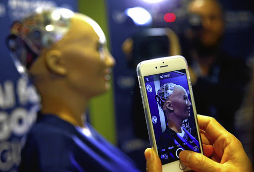 Sophia, a robot integrating the latest technologies and artificial intelligence, created by Hanson Robotics. South African firms have been slow to adopt emerging technologies, says World Wide Worx MD Arthur Goldstuck. Picture: REUTERS