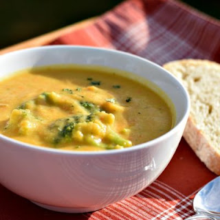 Vegan Broccoli Cheddar Soup.