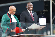 President Cyril Ramaphosa at his inauguration at the Loftus Stadium in Tshwane on Saturday.
