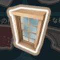 西洋式の木の窓