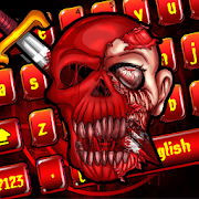 Red Skull Graffiti keyboard