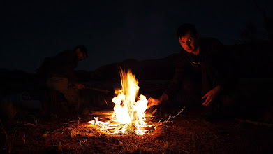 Photo: Camp fire for the cold night (Ricky's photo)