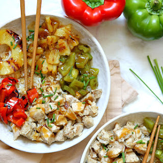 Grilled Chicken and Pineapple Rice Bowls with Teriyaki Glaze