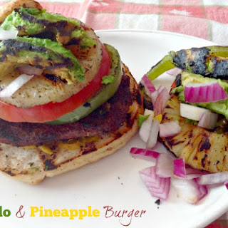 Grilled Avocado and Pineapple Burger Recipe