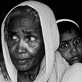 My Granny by Debdatta Chakraborty - News & Events World Events ( b&w, photojournalism, candid )