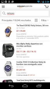 Amazon compras: miniatura de captura de pantalla
