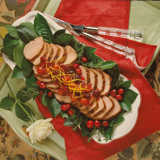 Roast Pork Tenderloin with Cherry-Cranberry Glaze.