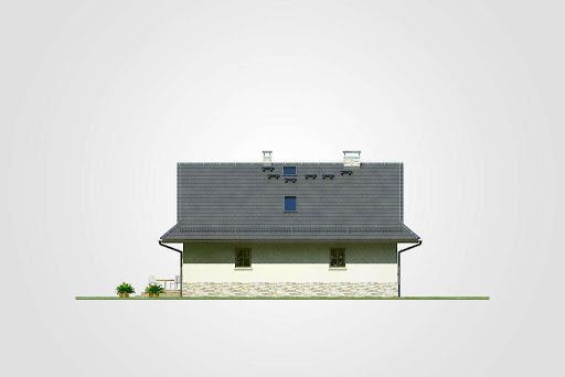 Dom Bacy - Elewacja tylna