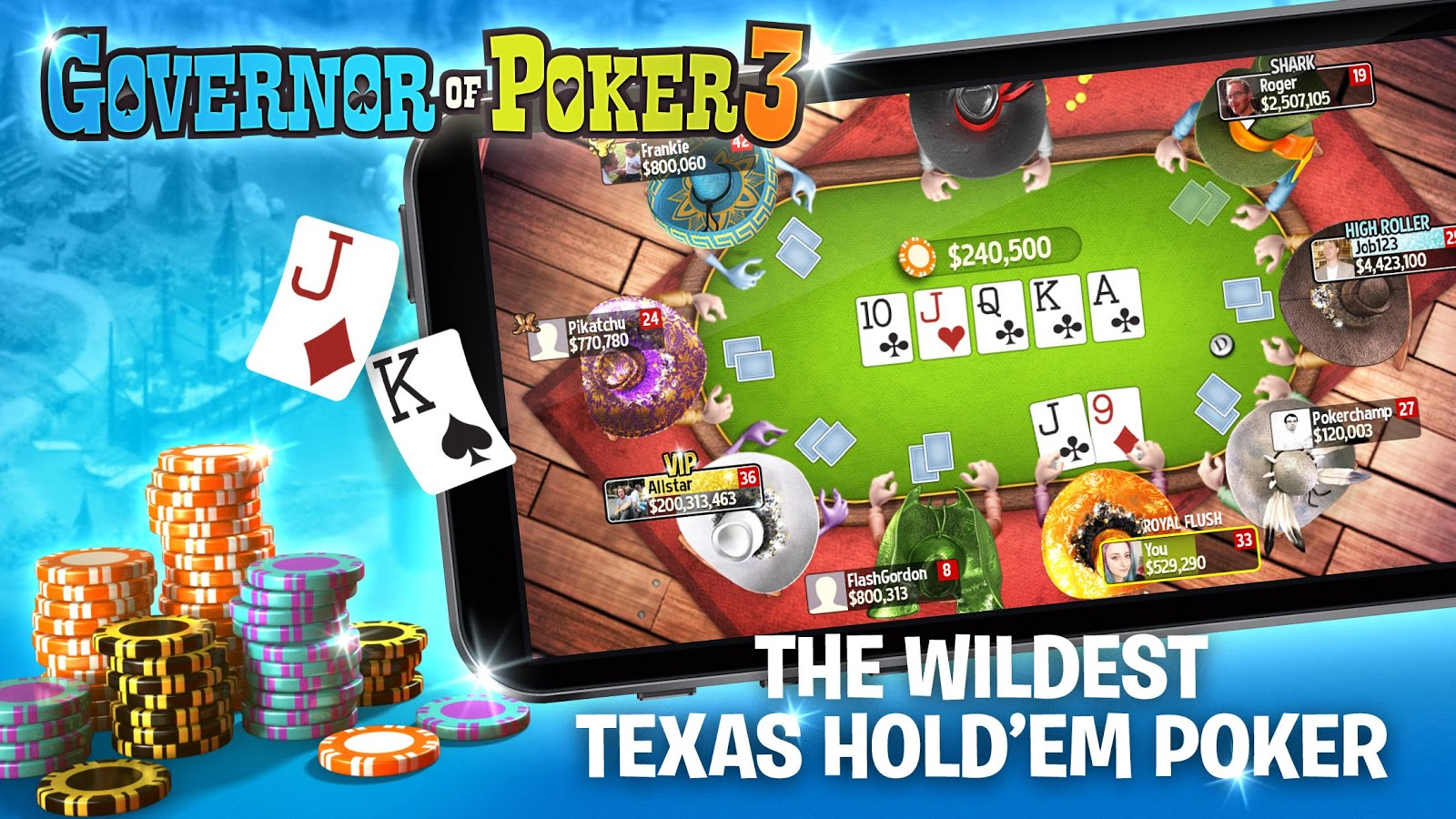 Governor Of Poker 3  Texas Holdem Poker Online  Android