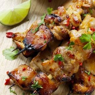 Cilantro Chili Chicken Skewers.