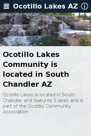 Ocotillo Lakes AZ