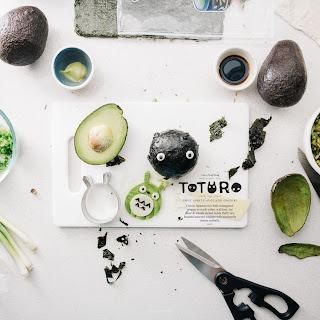 Totoro Soot Sprite Avocado Onigiri.