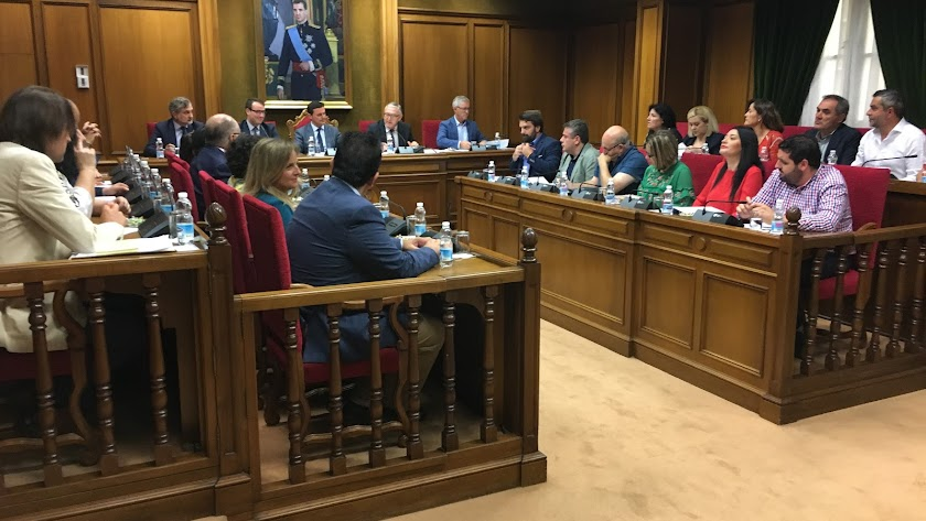 Pleno en Diputación.