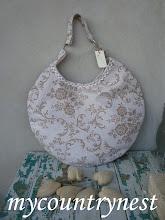 Photo: rounded bag tessuto tappezzeria bicolor lato b