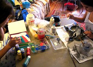 Photo: Maskmaking and Art Journaling.