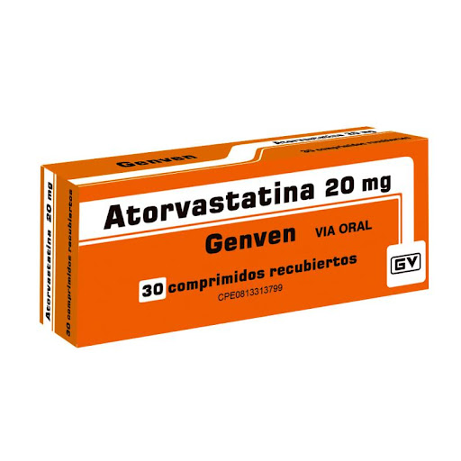 Atorvastatina 20Mg 30 Comprimidos Genven