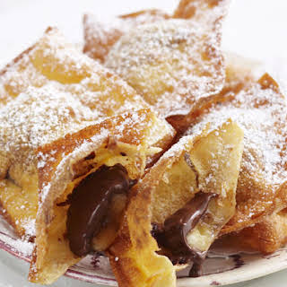 Banana and Chocolate Fritters.