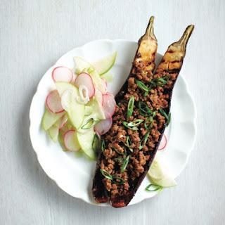 Vegetarian Bbq Miso Eggplant.