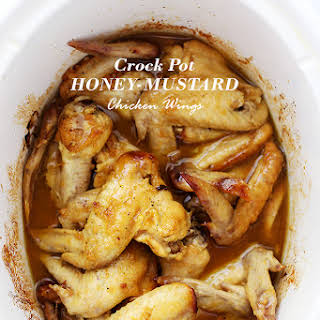 Crock Pot Honey Mustard Chicken Wings.