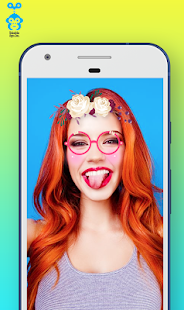Snappy Photo Filter Sticker Flower Crown - náhled