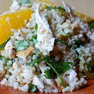 Chicken with Quinoa, Oranges, and Walnuts