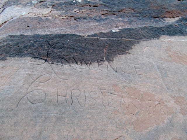 Lawence Christensen inscription at Rattlesnake Butte
