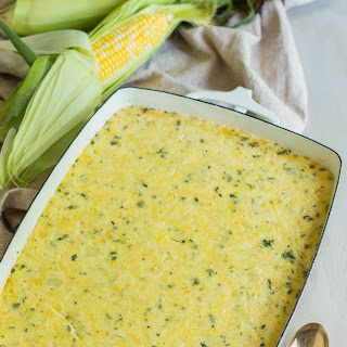 Herb and Cheddar Corn Pudding