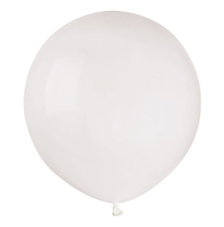 Ballonger helrunda 48 cm, vita