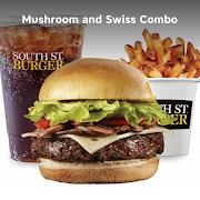 Mushroom & Swiss Burger Combo