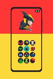 Supercons Dark – The Superhero Icon Pack (MOD, Paid) v2.0 1